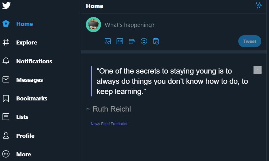 empty Twitter feed